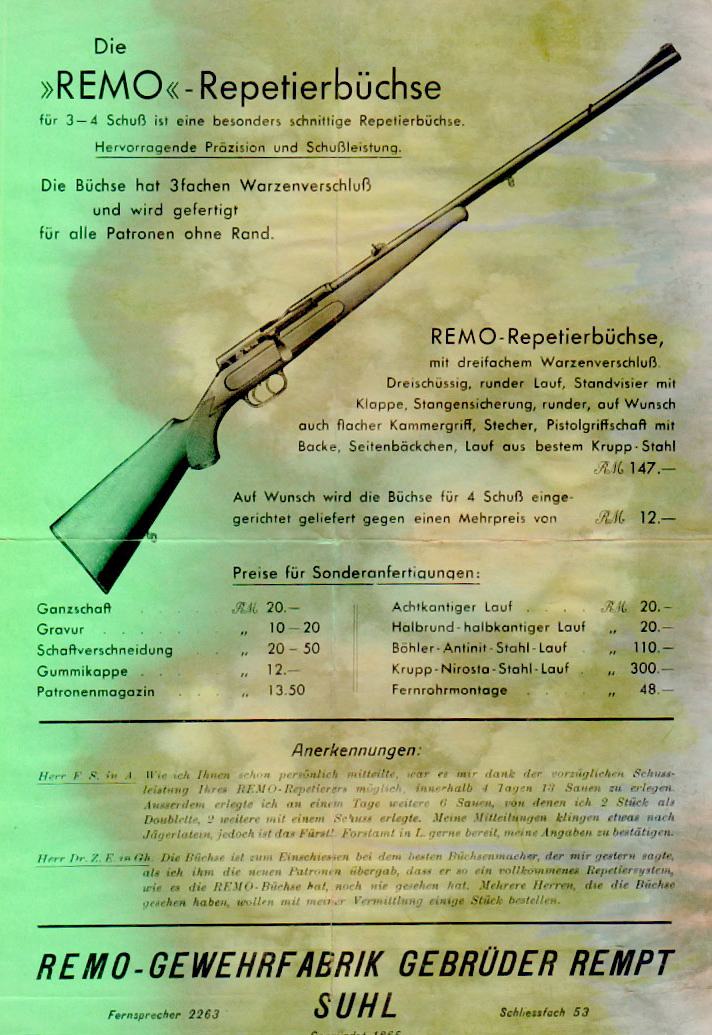 Nr.21 REMO Bolt Action Rifle