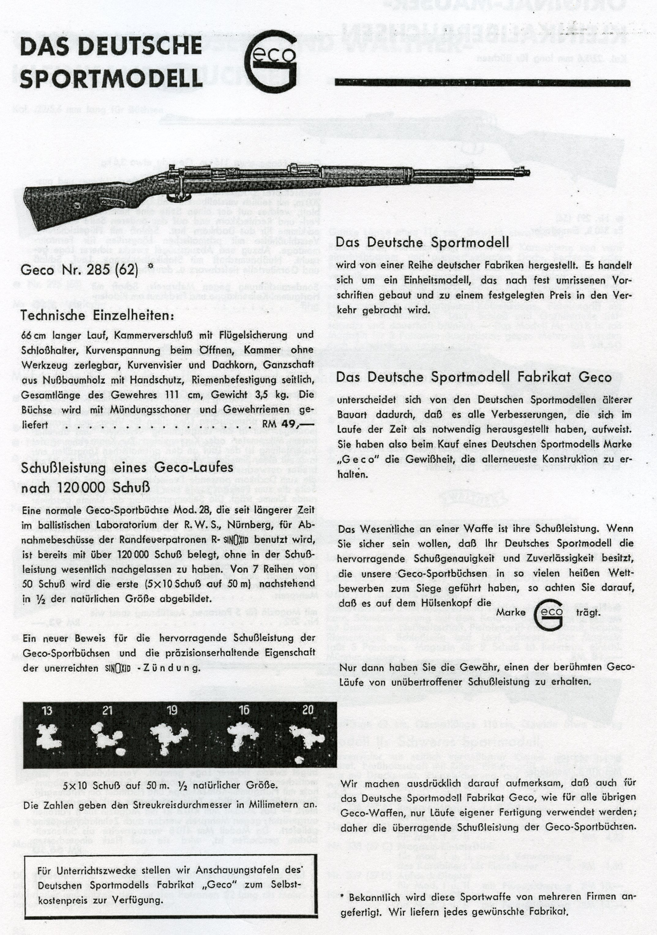 Geco was certainly the Sears & Roebuck of the German Sporting world with  facilities making Ammunition, Leather goods, and they sold, imported and  exported ...