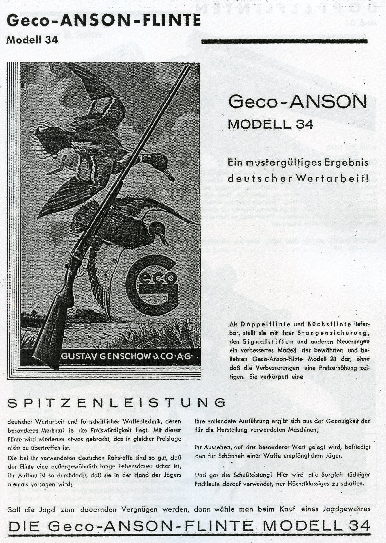 Gustav Genschow & Co.- Geco – German Hunting Guns