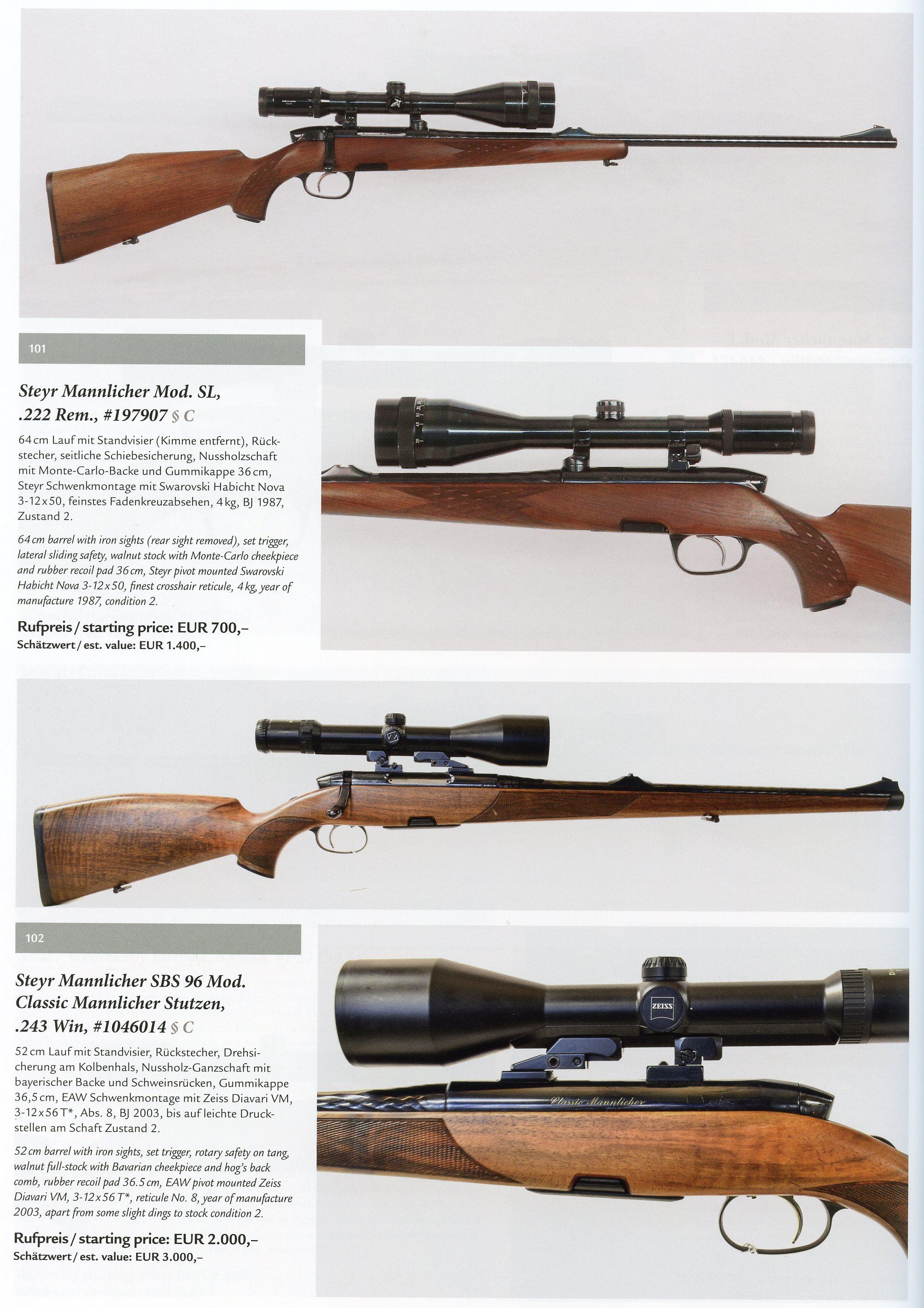Mannlicher-Schoenauer & Steyr – German Hunting Guns